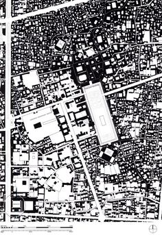 Site plan of the Maidan and surrounding public buildings, as they exist today, Isfahan, Iran