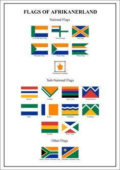 Flags of Afrikanerland by on DeviantArt South African Flag, South African Air Force, Flags Of The World, Countries Of The World, Map Symbols, Police Flag, Africa Map, Alternate History, National Flag