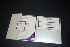 Silver Wedding Invitation  Pocketfold by eleven18designstudio, $7.25