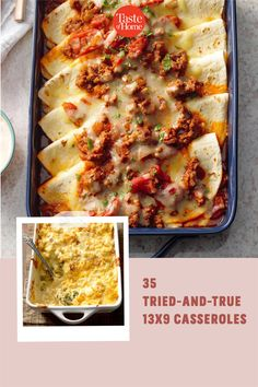 These trustworthy 13x9 casseroles will cook perfectly. From traditional classics to kid-friendly favorites, bank on these recipes for reliable meals. Meal Recipes, Dinner Recipes, Casserole Recipes, Casseroles, Easy Meals, Kid, Traditional, Cooking, Ethnic Recipes