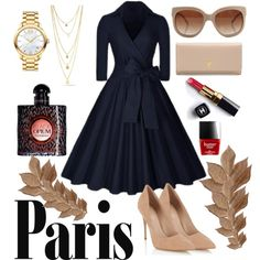 Paris in fall! by thomaikaragiaouri on Polyvore featuring Lipsy, Prada, Movado, STELLA McCARTNEY, Yves Saint Laurent, Bliss Studio and Chanel