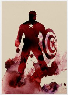 The Avengers Captain America A3 Poster Print. via Etsy.