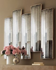 "John-Richard Collection  ""Caster"" Mirrored Wall Decor"