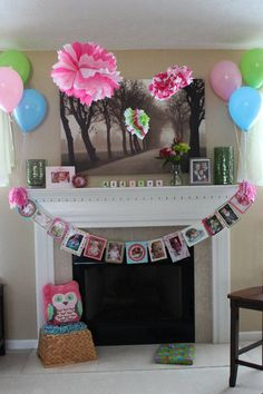 MUST DO THIS ON THE MANTEL for Kamden's first birthday!!!!!!