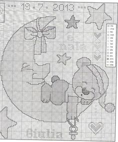 Gallery.ru / Фото #15 - copertine - ergoxeiro Baby Cross Stitch Patterns, Cross Stitch Baby, Cross Stitch Charts, Crochet Patterns, Crochet Baby Sweaters, Baby Blanket Crochet, Baby Knitting, Cross Stitching, Cross Stitch Embroidery