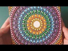 (104) Como pintar mandalas con acrílicos #16 - Puntillismo paso a paso con pincel - YouTube