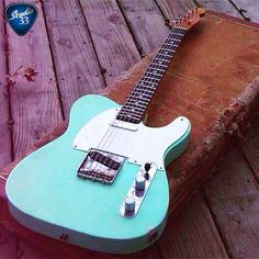 #TeleTuesday Check out this cool surf green Tele from @revelator_guitars Learn to play guitar online at www.Studio33Guitar.com
