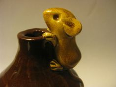 David Cleverly Slipware Mouse Pie Funnel