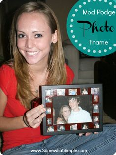 How to make a mod podge photo frame - dress up those plain jane frames!