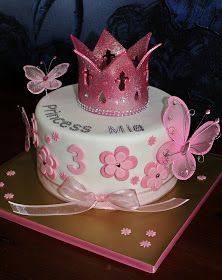 Birthday ideas~ princessy, girly colors, balloons on it, Pretty Cakes, Cute Cakes, Beautiful Cakes, Amazing Cakes, Fondant Cakes, Cupcake Cakes, Cupcakes Princesas, 2 Birthday Cake, Princess Birthday