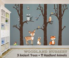 Ancient Trees Woodland Nursery Love Wall Decals #projectnursery #woodlandnursery #woodlanddecor #wallmurals #walldecals #bestboysnursery
