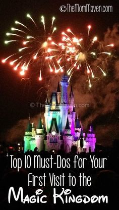 Disney Parks Top 10 Must-dos for your first visit to the Magic Kingdom in DIsney World Disney World 2017, Disney World Florida, Disney World Parks, Walt Disney World Vacations, Disney Worlds, Magic Kingdom Orlando, Magic Kingdom Food, Disney World Magic Kingdom, Disney Vacation Planning