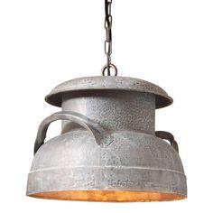 Farmhouse Pendant Lighting, Rustic Lighting, Vintage Lighting, Pendant Lights, Lighting Ideas, Cage Light, Farmhouse Light Fixtures, Black Pendant Light, Milk Cans