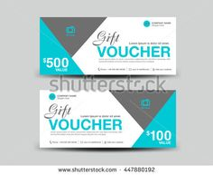 Blue Gift Voucher Template Flyer Design Polygon Background, Coupon Layout,  Ticket, Discount Card  Coupon Layouts
