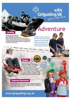 In 2010, as part of the Centenary, Girlguiding produced 6 posters - this one is Adventures.