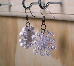 Paper Snowflake Earrings by MADJackDesigns on Etsy, $9.00