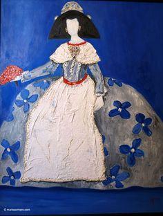 cuadro oleo menina vestido blanco negro cuadros decoracion pictures
