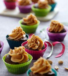 Chokolademuffins med peanutscreme