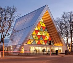 When a 6.3-magnitude earthquake hit New Zealand in February 2011, it ravaged the seaside city of Christchurch, killing 185 people, among them nearly 30 visitors from Japan. To honor the losses suffered by both countries, Japanese architect Shigeru Ban crafted this house of worship—a temporary replacement for a nearby 19th-century Anglican cathedral that had been severely damaged.