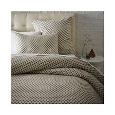 Neutral Bedding. West Elm Jacquard Leaf Duvet, Full,/Queen, Onyx/ Pictures Gallery