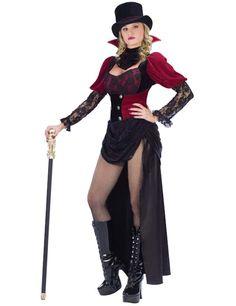 Adult Burlesque Victorian Vampire Costume