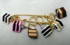 Stitch Markers CAKE SLICES for Knit or Crochet set of by fcwhimsey, $12.99
