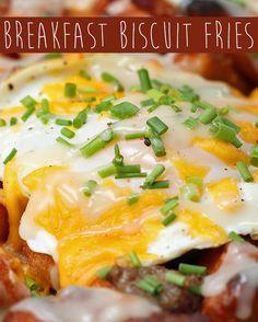 Breakfast Biscuit Fries