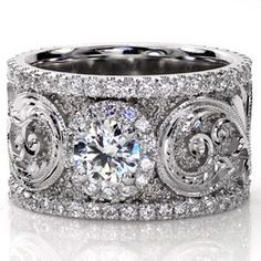 White gold and diamonds