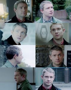 Martin Freeman's face has the best dialogue. They must create a category of awards just for faces --- and he'd win every year.