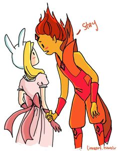 Fionna and Flame Prince by compoundbreadd