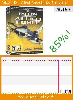Falcon 40 : Allied Force [import anglais] (CD-Rom). Réduction de 85%! Prix actuel 28,15 €, l'ancien prix était de 187,36 €. http://www.adquisitio.fr/graphic-simulations/falcon-40-allied-force