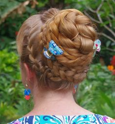 Braids & Hairstyles for Super Long Hair: Braided Updo w/ Side French Braids