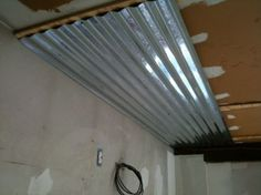 corrugated metal ceiling ideas