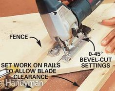 Woodworking Jigsaw You will ultimately require more than one saw in your woodworking shop. Table saws and miter saws are typically the very first purchases made by starting woodworkers. Woodworking Jigsaw, Woodworking Courses, Woodworking Power Tools, Woodworking School, Learn Woodworking, Woodworking Techniques, Popular Woodworking, Woodworking Projects, Wood Projects