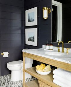 When shiplap gets a makeover from @studiomcgee Black is the new white. #SMPloves
