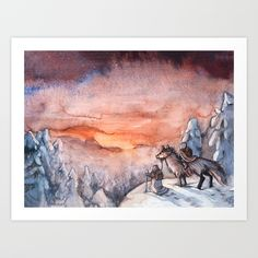 Polar Night Art Print by Ulla Thynell - X-Small Artwork Prints, Fine Art Prints, Polar Night, Affordable Art, Buy Frames, Book Art, Drawings, Illustration, Artist