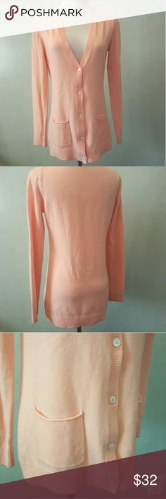 GAP coral cardigan Gap coral cardigan has 2 pockets in perfect condition.  **1-bin  ( storage note to self) GAP Sweaters Cardigans