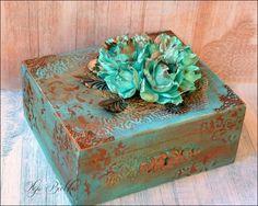 Blog Craft Passion: Antyczna szkatułka i video tutorial na kwiaty z foamiranu / Antique casket and foamiran flowers video tutorial