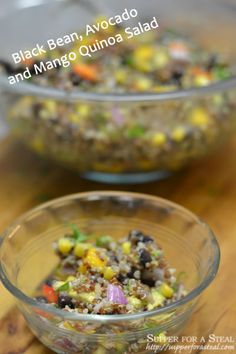 Black Bean, Avocado, and Mango Quinoa Salad