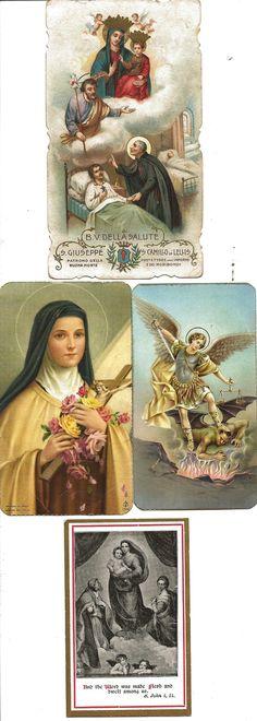 Antique Prayer Cards.
