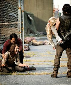 The Walking Dead season 5. CODA - Maggie Didn't ask about Beth the whole time she was missing but her reaction to seeing her sister dead was still devastating