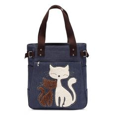 Canvas Cat Lover Tote