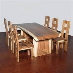 Slab table and chairs