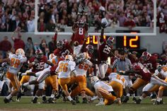 Mount Cody!..blocking a TN field goal (twice actually) My all time favorite play - and on the day I got engaged 10/24/09! W! RTR!