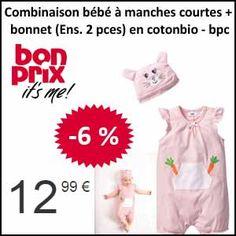 #missbonreduction; Economisez 6 % sur la Combinaison bébé à manches courtes + bonnet (Ens. 2 pces) en coton bio - bpc chez Bonprix.http://www.miss-bon-reduction.fr//details-bon-reduction-Bonprix-i222-c1832936.html