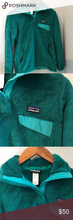 Patagonia re tool snap t fleece pullover Re-tool snap-t fleece pullover aqua love the color size xs in great condition so cozy Patagonia Sweaters