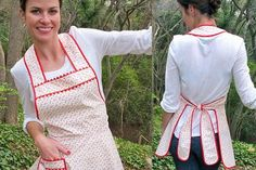 Aprons...remind me of the ones my Granny used to layer on throughout the day.