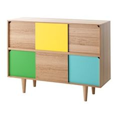 IKEA - TILLFÄLLE, Cabinet, Sliding doors give you the choice between hiding and displaying your belongings, and do not take up any space when opened.Tall legs make cleaning easy.Eucalyptus wood is a natural material with variations in the grain and color that makes each piece of wood furniture unique.