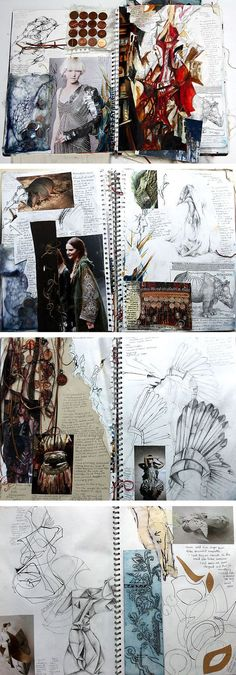 A Level Textiles: Beautiful Sketchbook Pages #fashion #textile #experimentation #sketchbook