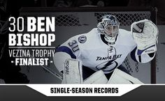 Bish is pretty good at stopping pucks and breaking franchise records. | #TBLightning #twitter | #Bolts #BenBishop #BigBen #NHL #hockey #infographic